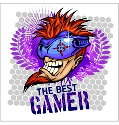 The Best Gamer - T-Shirt Design vector image vector image