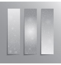 Vertical grey rectangle banners snow winter vector