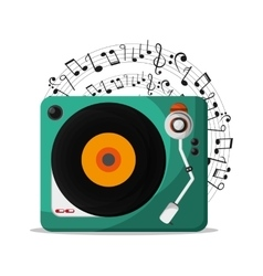 Vinyl instrument and music design vector