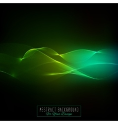Waved lines for card flyer designgreen tone vector image