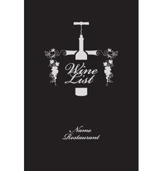 wine list menu vector image vector image