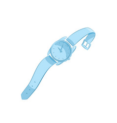 Women or men wristwatch classic design elegant vector
