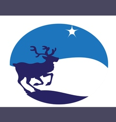 young deer blue vector image vector image