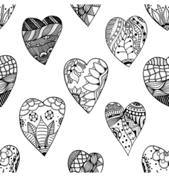 Zentangle ornamental heart vector image