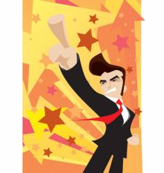 Victorious businessman arrow vector