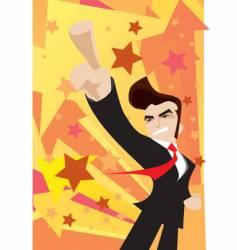 victorious businessman arrow vector image