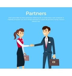 Partners concept in flat design vector