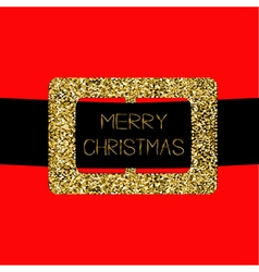 Santa claus coat with gold glitter belt merry vector