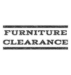 Furniture clearance watermark stamp vector