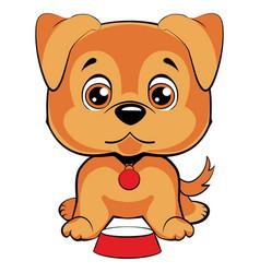cute cartoon dog children s  funny vector image