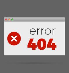 404 error window alert warning vector