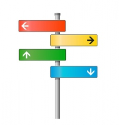 Signpost illustration vector