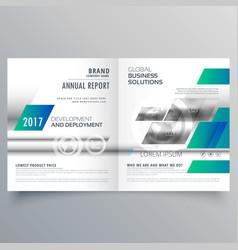 Modern business bifold brochure design template vector