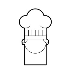 Cute chef woman in uniform and hat character vector
