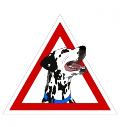 Dalmatian on board vector