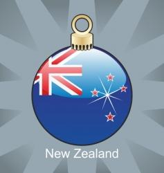 New Zealand flag on bulb vector image