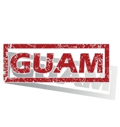 Guam outlined stamp vector