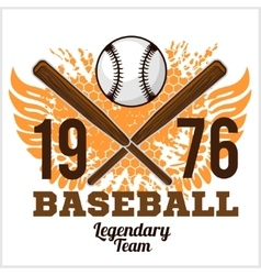 Vintage baseball label and badge - stock vector