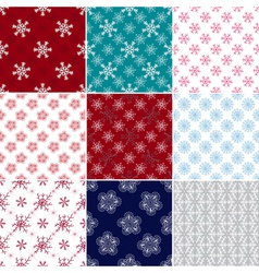 Big set seamless christmas patterns vector