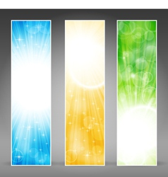 vertical banner set vector image