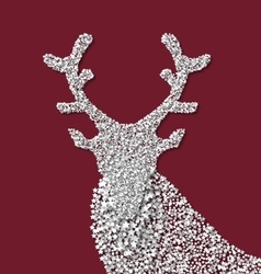 Symbol new year xmas deer made from white vector