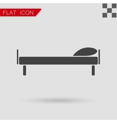 Flat the bed icon vector