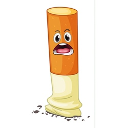 a cigarette with face vector image vector image