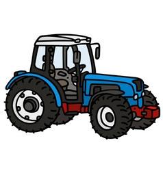 Blue tractor vector