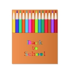 Box of colored pencils Back to School vector image