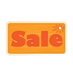Bright orange shades inscription word sale painted vector