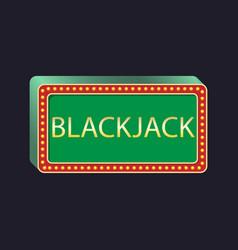 Casino party pointer blackjack vector