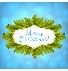 Christmas blue shiny background vector image