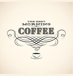 coffee vintage label vector image