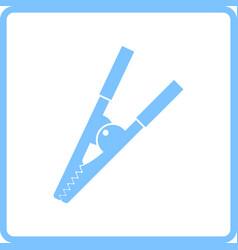 Crocodile clip icon vector