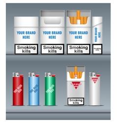 Digital silver cigarette pack mockup vector