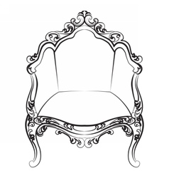 Elegant armchair with luxurious ornaments vector