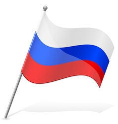 Flag of russian vector