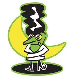 Frankensteins wife vector image vector image