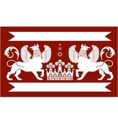 Heraldic Double Griffin vector image