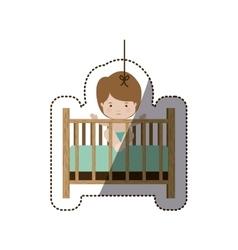 Isolatd baby boy design vector