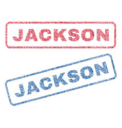 Jackson textile stamps vector