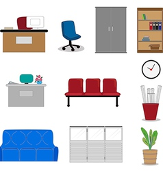 Office furnitures vector image vector image