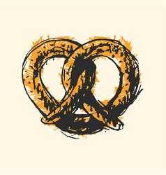 pretzel craft sketch vector image