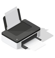 Printer detailed isometric icon vector image vector image