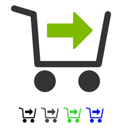 purchase cart flat icon vector image