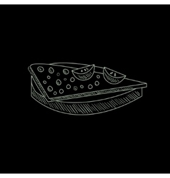 Quesadilla hand drawn sketch vector