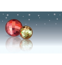 Red and yellow Christmas Balls vector image vector image