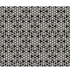 Seamless Black And White Triangle Grid vector image vector image