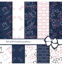 Set of 10 seamless patterns vector image vector image
