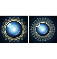 two golden frames vector image